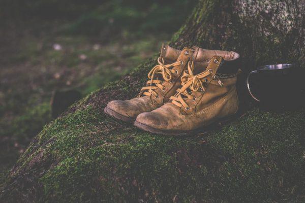 Buty-sznurowane-na-mchu-w-lesie